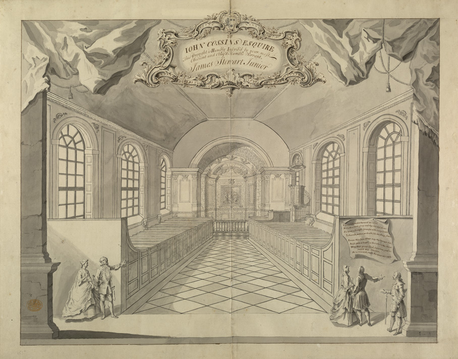 [Interior View of Redland Chapel, near Redland Court, in Westbury-upon-Trim Parish]
